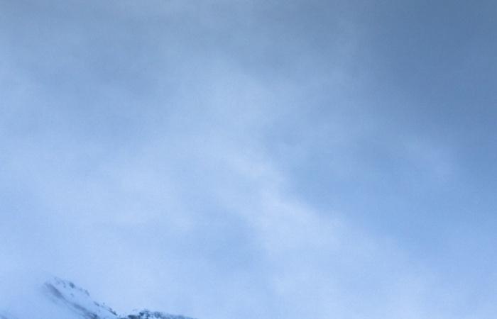 Paysage d'hiver photographié lors du stage photo Serre chevalier en hiver