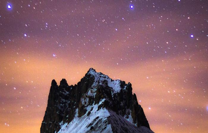 Paysage de nuit pris lors du stage photo automnal dans la vallée de la Clarée, entre le Mont Thabor et la vallée étroite