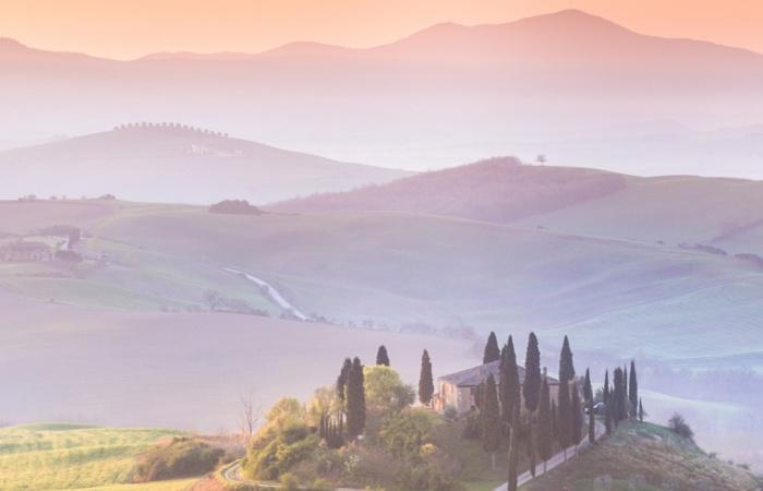 paysage de Toscane, vacance voyage photo