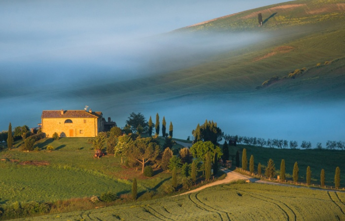 Photo de paysage de Toscane, San Giminiano, Pienza / stage photo nature