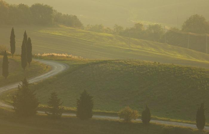 Séjour photo en Toscane en juin dernier / atelier photo macro / prise du vue montagne italienne