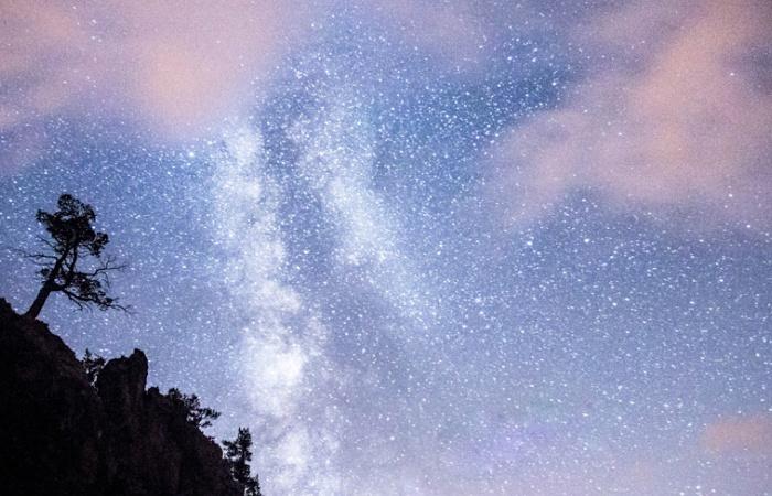 Paysage de nuit pris lors du stage photo automnal dans le parc du Queyras entre la casse deserte et le vallon de Cervière
